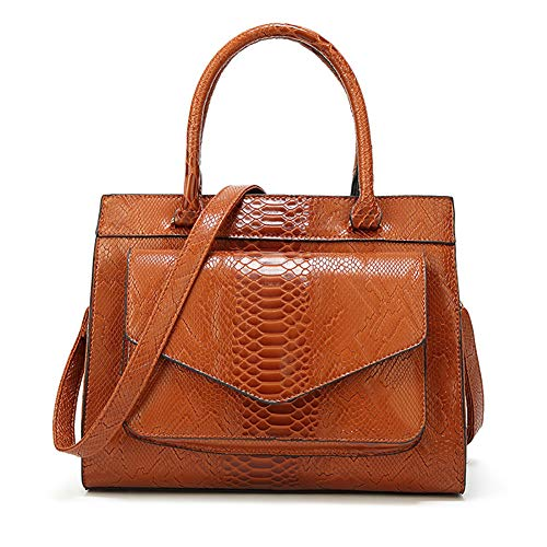 AmerStar Grain Brown Capacity Tote for Purse Bag Crossbody Zip Women Bags Large Tote Bag Snake Erwrq6