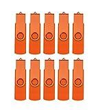 FEBNISCTE 10pcs 8GB Orange OTG USB3.0 Flash Drive for Cell Phones & Tablet PCs