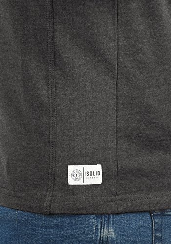 shirt À Melange Longues Doriano Homme 8288 Dark Grey Tunisien T Manches solid HqgtWXwEq