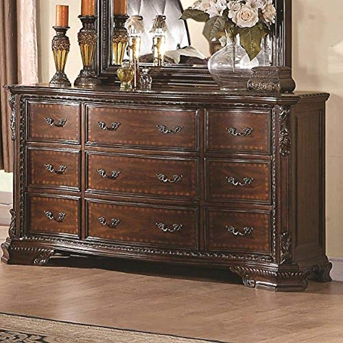 - Coaster Home Furnishings Maddison 9-Drawer Dresser Cappuccino