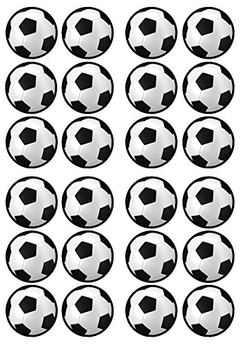 Football Soccer Theme Edible PREMIUM THICKNESS SWEETENED VANILLA, Wafer Rice Paper Cupcake Toppers/Decorations