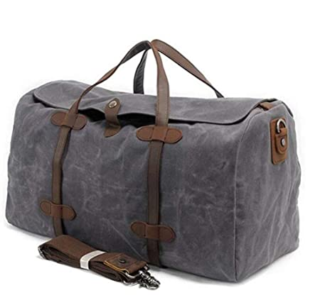 Oversized Travel Tote Overnight Weekend Bag Waxed Canvas Waterproof Flight Bag  Large Carry-on Bag for Men  Amazon.co.uk  Luggage 2115954dbc13c