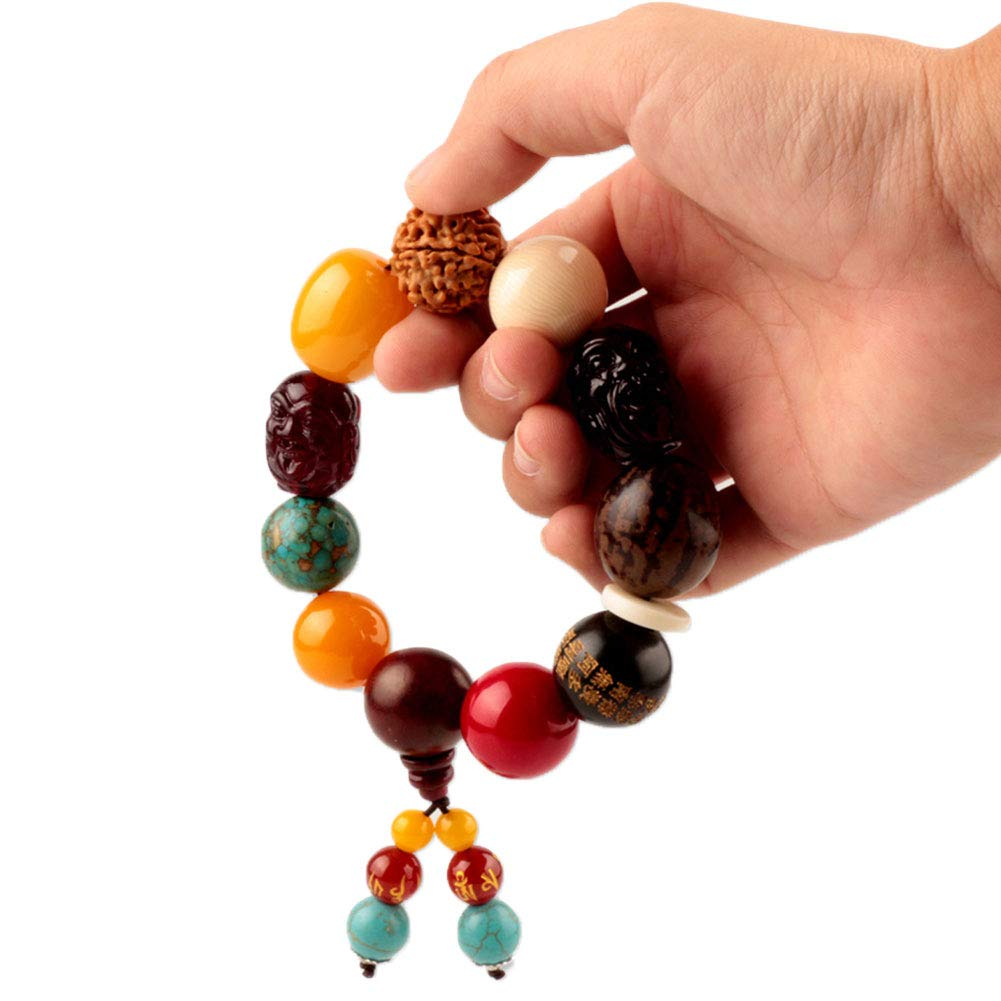 Move on Car Gear Shift Wood Buddha Beads Bracelet Rearview Mirror Hanging Ornament Decor S by Move on (Image #1)