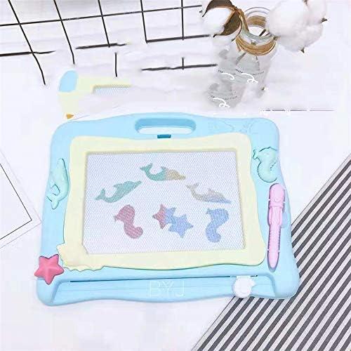 子供お絵かきボード 描画ボード付きスタンド消去可能な落書きボードカラフルマグナいたずら書きライティングパッド学習おもちゃ子供のための子供幼児ブルー お絵描き おもちゃ (Color : Blue)