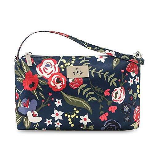 JuJuBe Limited Edition Be Quick Baby Wipe Carrying Case/Detachable Wristlet, Midnight Posy