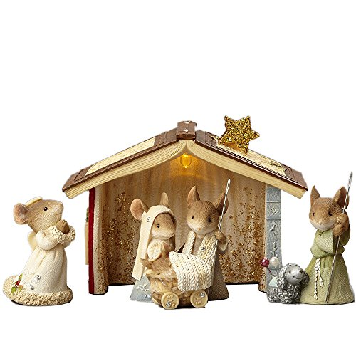 2017 Enesco  Heart of Christmas Mice Nativity 6 Piece Set