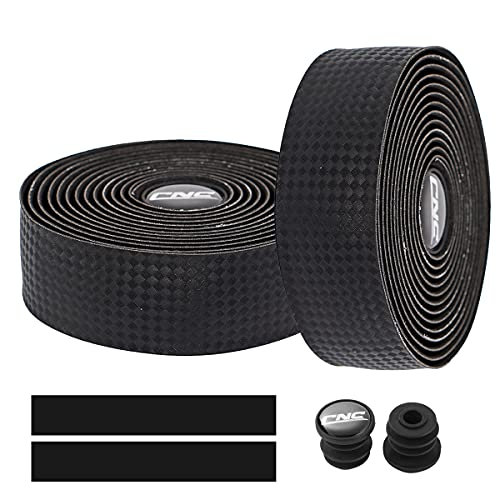 2 Cintas cnc corcho para manubrio bicicleta(negro carbono)