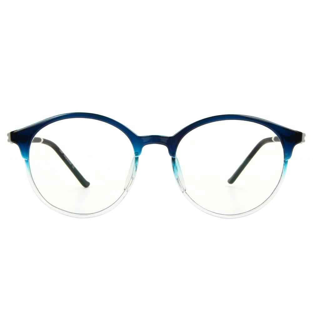 Cyxus Occhiali luce blu bloccanti per il blocco della cefalea UV Nero opaco unisex uomini//donne Anti Eyestrain Classico nero Occhiali retr/ò