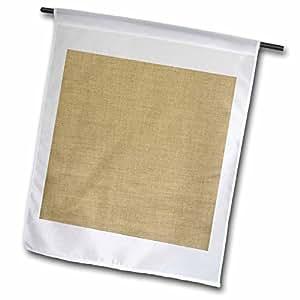 Florene Designer Texture - Picture Of Deep Tan Linen - 12 x 18 inch Garden Flag (fl_62184_1)