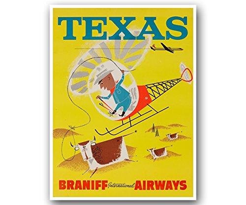 (Texas Travel Poster Vintage Art Retro Print 12x16 XR906)