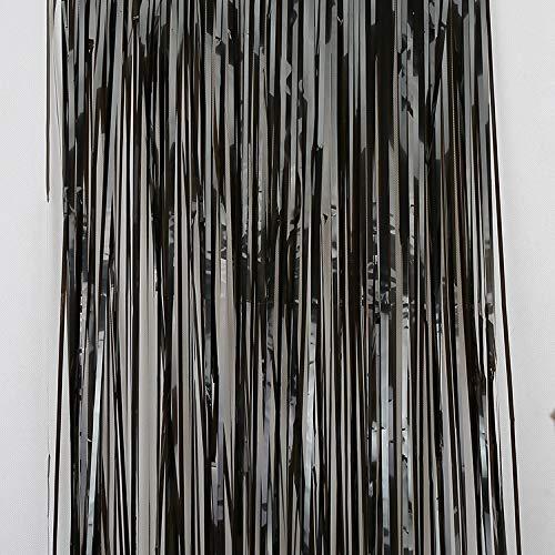 YWILL Metallische Lametta Vorhänge//Folie Vorhang//Hintergrund Fringe Vorhänge