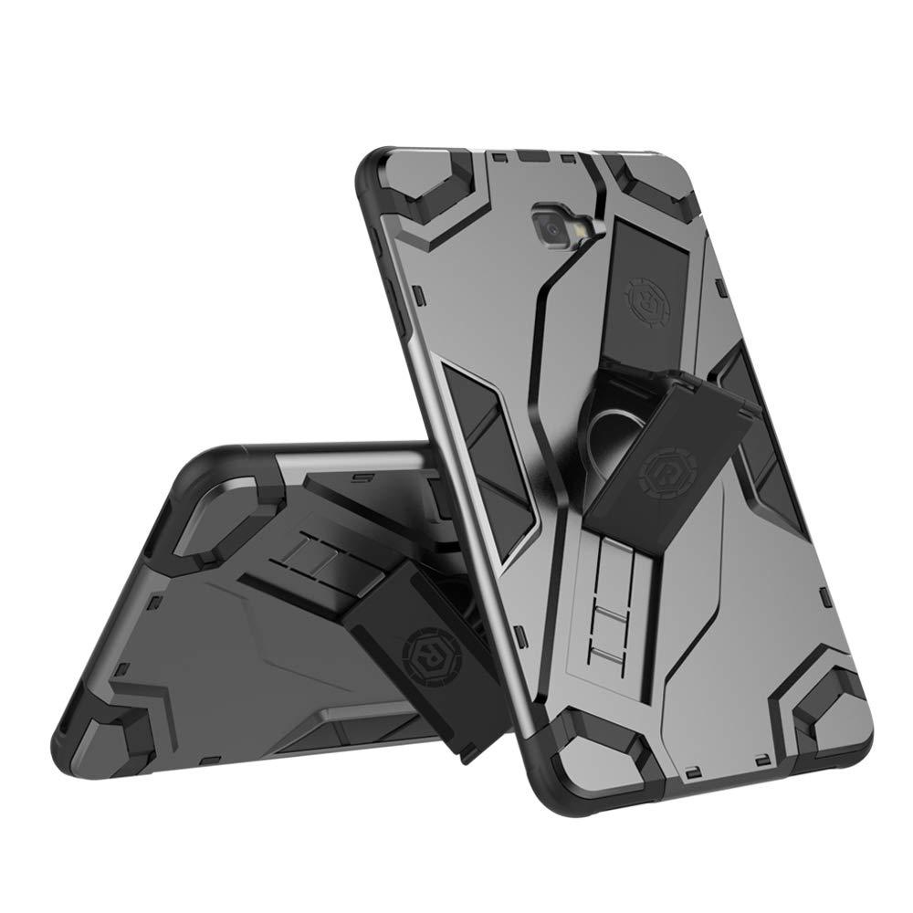 超美品の HHF フリップケース A Samsung Galaxy ブラック Tab A 2016 10.1 2016 SM-T580/T585用 高耐久ハイブリッドアーマーディフェンダー 耐衝撃タブレットケース 折りたたみ式スタンドハンドストラップ保護カバー付き, ブラック, HongHeFu ブラック B07NMVKZ2Z, Star-Parts:918feba6 --- senas.4x4.lt