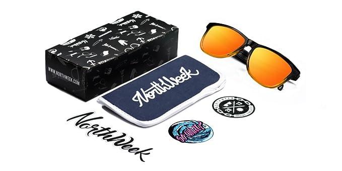 Northweek Unisex-Erwachsene Sonnenbrille Gradiant, Mehrfarbig (Naranja), 52