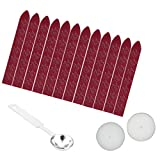 dark red sealing wax - Sealing Wax Sticks, Yoption 12 Pieces Sealing Wax Sticks without Wicks + 1 Piece Wax Melting Spoon + 2 Pieces Candles for Wax Seal Stamp (Dark Wine Red12)