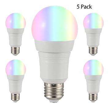 YDYG - Bombillas LED de Intensidad Regulable (5 Unidades, E27, con Control de