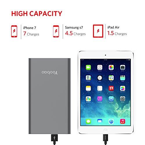 Power Bank 20000mAh, Yoobao High Capacity Powerbank External Battery Pack Cell Phone Charger Battery Backup (Micro & Lightning Input) Compatible iPhone iPad Samsung Galaxy More - Gray by Yoobao (Image #4)