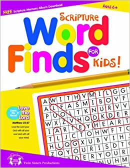 Scripture Word Finds For Kids 48 Page Activity Book