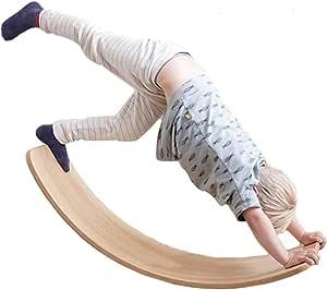 tabla de madera curvada adolescentes y adultos tabla de equilibrio de madera para ni/ños Tabla de equilibrio de madera para ni/ños Montessori