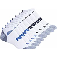 Puma Men's No show Sport Socks, Moisture Control, Arch Support (8 Pair)