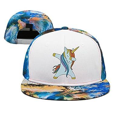 Unisex Heat Snapback Hip hop Dabbing Unicorn Baseball Cap for Women
