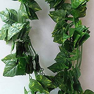 MARJON FlowersArtificial Flower Ivy String, Real Touch Wedding Flower Vine, Fake Flower Floral Arrangement for Table Decoration Wedding Bouquets Decor 92