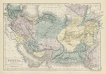Persien Karte.Persien Und Afghanistan Iran South West Asien Sydney Hall 1856