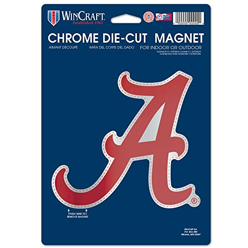 sity of Alabama Chrome Magnet, 6.25 x 9, Black ()