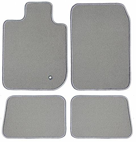 GG Bailey D3961A-S1A-GY Two Row Set Custom Fit Floor Mats for Select Jaguar XJ Models - Nylon Fiber (Grey) by GG Bailey