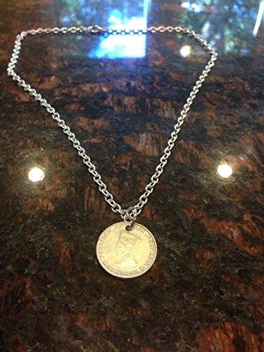 Indonesia 5 sen coin necklace