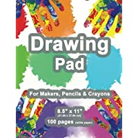 """Drawing Pad: 8.5"""" X 11"""", Personalized Drawing Sketchbook, 100 pages, Durable Soft Cover, Fingerpaint Kit-[Professional…"""