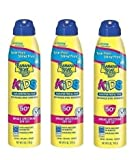 Banana Boat Ultramist Kids Tear Free Lotion SPF 50, 6-Ounces (Pack of 3)
