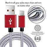 USB Type C Cable,Covery USB C Cable 4 Pack (1x1ft,2x4ft, 1x6ft) Nylon Braided USB C to USB A Charger Cord (USB 2.0) for Samsung Note 8,Galaxy S8,Apple New Macbook, Nexus 6P 5X,Google Pixel,LG G5 G6