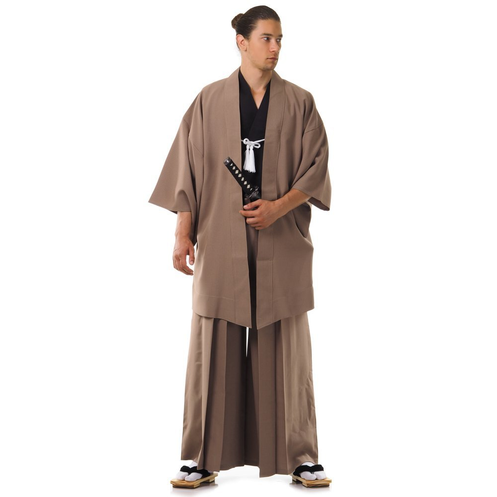 Japan Samurai Kimono Set 3 Teile Kendo Gi + Hakama + Haori Baumwolle M L XL Samurai-HM