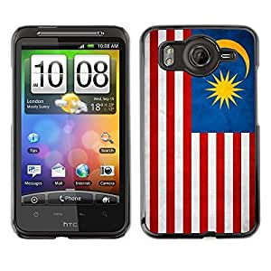 Shell-Star ( National Flag Series-Malaysia ) Snap On Hard Protective Case For HTC Desire HD / Inspire 4G