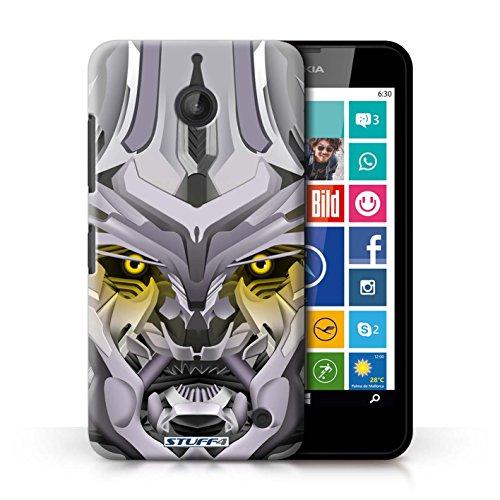 Kobalt® Imprimé Etui / Coque pour Nokia Lumia 635 / Mega-Bot Jaune conception / Série Robots