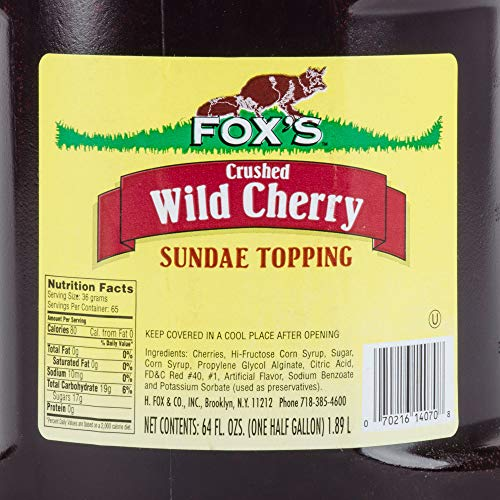 TableTop King 1/2 Gallon Cherry Ice Cream Sundae Topping - 6/Case by TableTop King (Image #2)