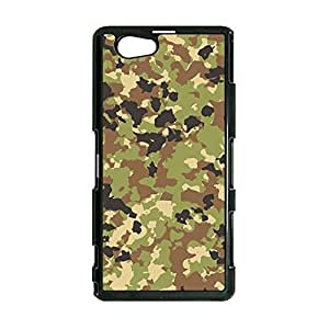 Artistic Pattern Camouflage Phone Case Cover For Sony Xperia Z1 Compact/Z1 mini Camouflage Fashionable