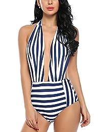 Avidlove One Piece Bikinis Swimsuits Backless Swimwear Pin Up Monokinis