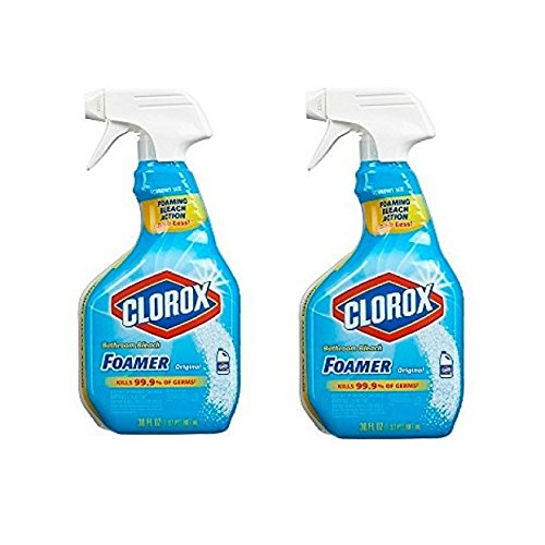 Clorox Bathroom Foamer with Bleach, Spray Bottle, Original,