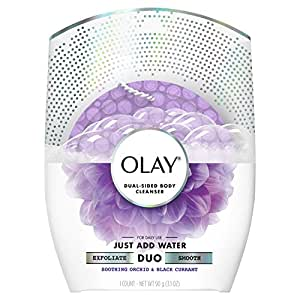 Olay Body Cleansing Duo Soothing Buffer, Orchid & Black Currant