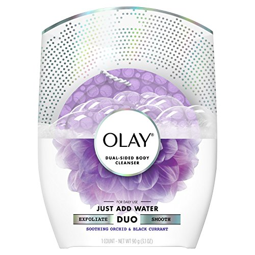(Olay Body Cleansing Duo Soothing Buffer, Orchid & Black Currant)