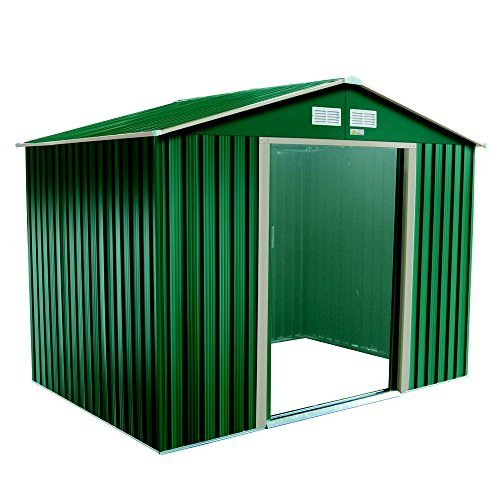 Palm Springs Metal Galvanized Steel Backyard Garden Storage Shed - 8' x 6' (Galvanized Steel Shed)