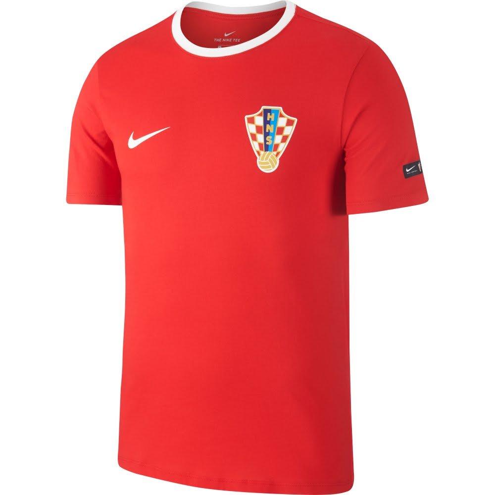 Nike Croatia 2018-2019 Croatia Nike Crest Tee (Weiß) eb0298