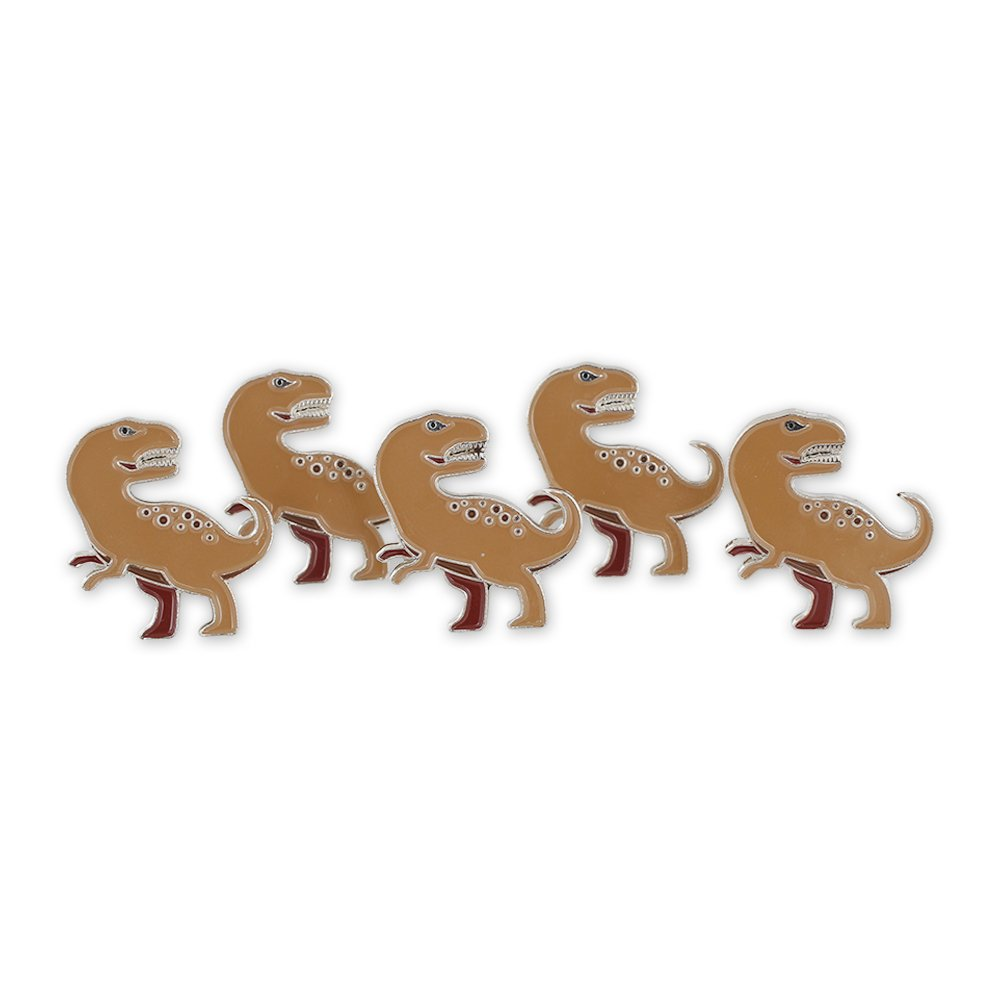 Tyrannosaurus Rex Jurassic Dinosaur T-Rex Enamel Lapel Pin– 5 Pins
