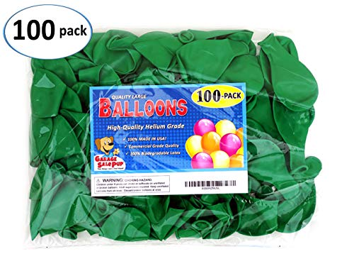 Garage Sale Pup Pack of 100, Bright Green Color 5 Decorator Latex Balloons, Made in USA!