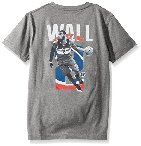 Levelwear LEY9R NBA Washington Wizards John Wall Jr Principal Showcase Player Name & Number Tee, Heather Pebble, Youth X-Large