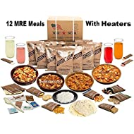 MRE Star MRE Meals Ready to Eat Meal Kits 12 Packs with Heaters