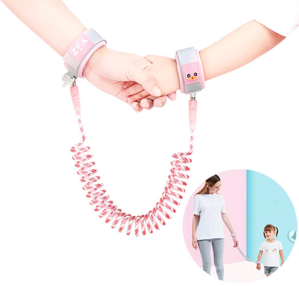 Toddler Reins for Walking, Kids Leash Children Anti Lost Wrist Link Rope Eholder Skin-Friendly Elastic Protective Belt - Mummy Travel Essentials Baby Safety Harness