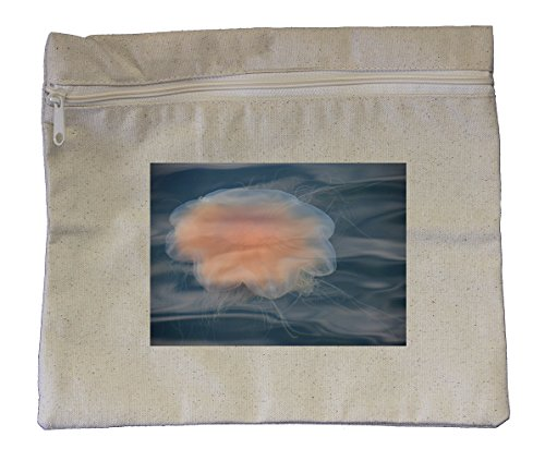 """Canvas Zipper Pouch Tote Bag 10""""X12"""" Jellyfish Style 2 Style"""