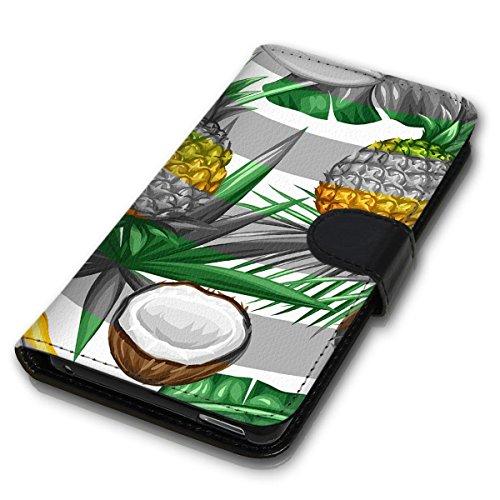Wallet Book Style Flip Handy Tasche Case Schutz Hülle Schale Motiv Etui für Apple iPhone 4 / 4S - Design Flip MVD234